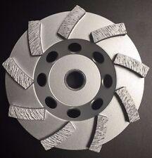 "4"" Concrete Swirl Grinding Cup Wheels 9 Diamond Abrasive Seg 5/8""-11 Arbor"