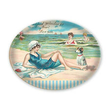 Michel Design Works Glass Soap Dish By the Sea - NEW