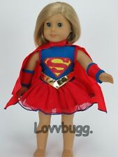 "SUPER GIRL Costume for 18"" American Girl Doll Clothes Widest Selection Found"
