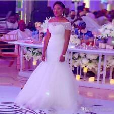 NEW Plus size white/ivory Mermaid Bridal Gown Wedding Dress Custom Size 16+28+