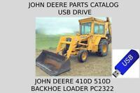 John Deere 410D and 510D Backhoe Loader Parts Catalog Manual PC2322 USB Drive