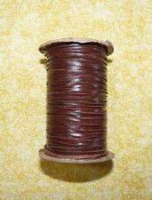 "1/16"" Brandy Kangaroo Leather Lace Lacing 50 yd spool jewelry minatures"