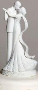 Roman To Have and To Hold Bride & Groom Cake Topper Wedding White