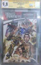Transformers Movie Adaptation #1__CGC 9.8 SS__Signed by Megan Fox_rare signature