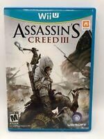 NINTENDO Wii U Assassin's Creed III 3 Game (Nintendo Wii U, 2012) - TESTED