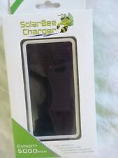 New solar bee USB cell phone charger 5000 mah New in box