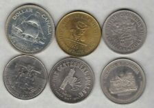 SIX CANADA 1971 TO 1984 DOLLARS & SOUVENIR DOLLARS IN NEAR MINT CONDITION