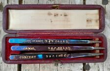 More details for rare antique boxed set  3  s & p erard  piano tuning forks