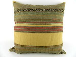 "Ralph Lauren Bellosguardo Mesa Stripe Southwestern Down Throw Pillow 20"" x 20"""