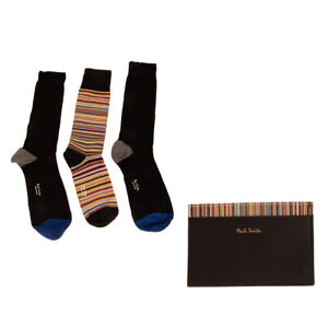 RRP €390 PAUL SMITH Leather Mini Wallet Card Holder & 3 Pack Everyday Socks Set