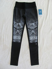 MPG Mondetta Performance Gear Running Tights-Reflection Print/Black-Size XS-NWT