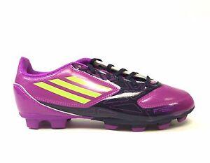 Adidas Kids' F5 TRX FG J Youth Soccer Shoes Purple/Navy/Yellow G61502 a4