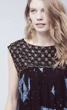 NWT $198 ANTHROPOLOGIE by Moulinette Soeurs Lydia Swing Party Dress Beaded 4/(6)
