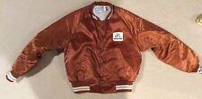 Vintage Asgrow Satin Baseball Jacket By Upstream Made In USA Large