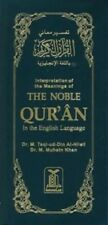 Noble Quran English Only Long By Taqi Ud Din Halali & Dr Muhsin Khan Islamic