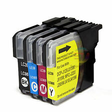 4x Ink Cartridge LC39 LC985 for Brother DCP J315W MFC J220 J265W J410 Printer OZ