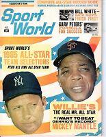 1965 Sport World Baseball magazine,Mickey Mantle,New York Yankees~Willie Mays~Gd