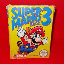 Vintage Nintendo Entertainment System Nes Super Mario Bros. 3 Video Juego En Caja