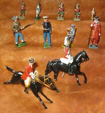 VINTAGE LOT of 9 'BRITIANS' HP TOY LEAD SOLDIERS Made in ENGLAND 1930's-'60's
