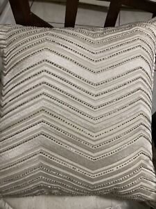 """Hotel Collection  18"""" Square Decoratively Pillow, White"""