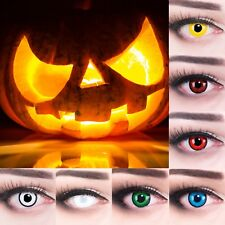 White colored contact lenses scary zombie lenses for Carnival Halloween