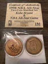 Kobe Bryant Lakers Highland Mint Bronze 2 Coin 1998 All Star Game Set New York