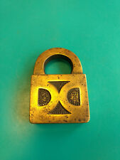 "Old Vtg Collectible Unmarked Double D ""DD"" Padlock Lock"