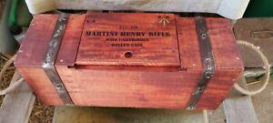 Martini Henry 24th foot .577 Cal empty box