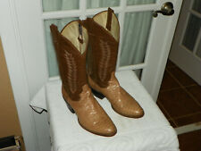 Panhandle Slim Two Tone Snakeskin Cowboy Western Boots Men's size 8 D