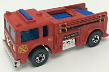 Vintage 1976 Hot Wheels Fire-Eater Red Fire Truck Blackwall