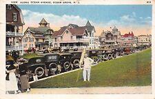 Ocean Grove New Jersey 1920s Postcard View Along Ocean Avenue Monmouth County