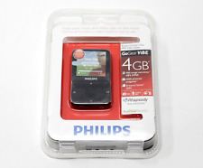 PHILIPS GoGear ViBe 4gb Black MP3 video player New & Sealed Has Shelfwear
