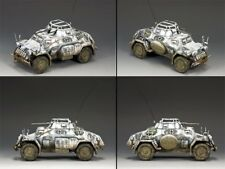 King & Country Battle Of The Bulge Bbg054 Sd Kfz 222 Armoured Car Winter Mib