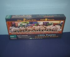 Sealed NEW 3' Wide Panoramic Little Puppies Puzzle Ladrador by Buffalo Games