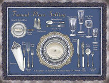 Restaurant Table Place Settings Silver Service Kitchen Large Metal/Tin Sign