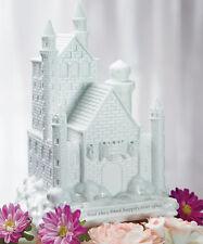 Fairy Tale Dreams Romantic White Castle Wedding Cake Topper