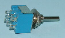 Miniature DPDT C/Off Toggle Switch Mom. One Side M213