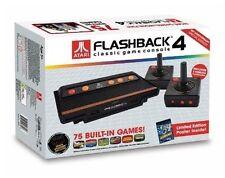 Atari Flashback 4 Game Console W/75 Built in Games & joysticks & Asteroids Poste