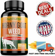 HORNY GOAT WEED EXTRACT 2340 mg Energy Performance Complex Supplement 60 Caps