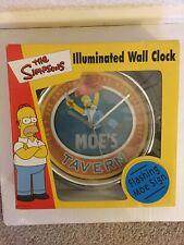 Mega Rare The Simpsons Moe's Tavern Flashing Illuminated Wall Clock Must See!