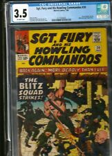 MILITARY SECTION: SGT. FURY AND HIS HOWLING COMMANDOS # 20 CGC 3.5