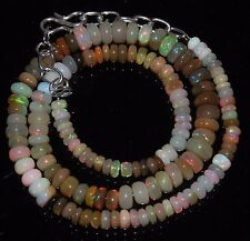 """77 Ctw 1Necklace 4to7mm16""""Beads Natural Genuine Ethiopian Welo Fire Opal RR406"""