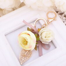 New Key chain Keyring bag chain DIY Bowknot and flowers Pendant Keyfob Keychain