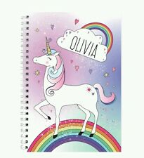 Personalised Unicorn Notebook Christmas Gift School