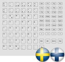 Keyboard STICKER GRIGIO GREY Finlandia Suomi Svezia Sverige Keystick all keys mm