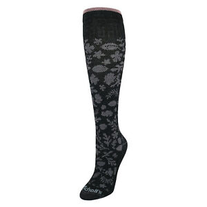 New Dr Scholls Women's Lace Floral Pattern Fashion Compression Knee High Socks
