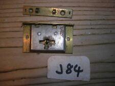 """CENTURION  VINTAGE BRASS BOX LOCK CABINET CUPBOARD CASE LOCKS 1 1//2/"""""""