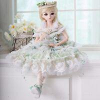 60cm BJD Puppe Mädchen Doll Prinzessin mit Gesicht Make-up + Augen + Kleidung