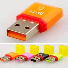 Random Color New Portable Mini USB Connect Head Micro SD TF Card Reader