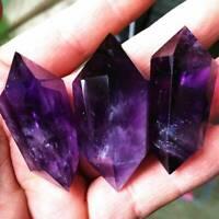 Top Natural Purple Amethyst Quartz Crystal Point Wand Obelisk Healing Stones